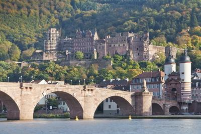 Neckar River with Karl Theodor Bridge