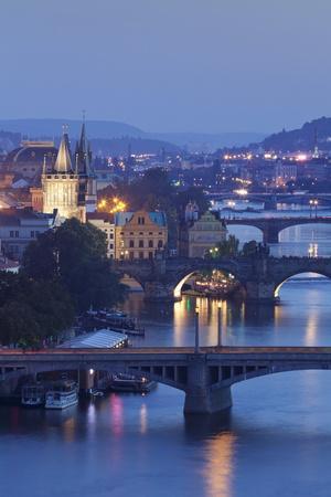Vltava River with the Bridges