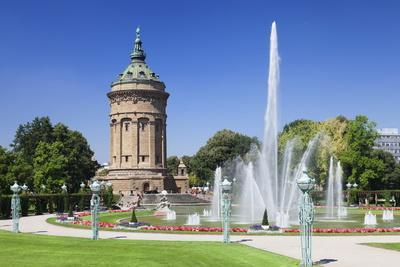 Wasserturm (Water Tower), Mannheim, Baden Wurttemberg, Germany, Europe