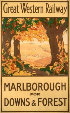 Marlborough for Downs & Forest, GWR, c.1927