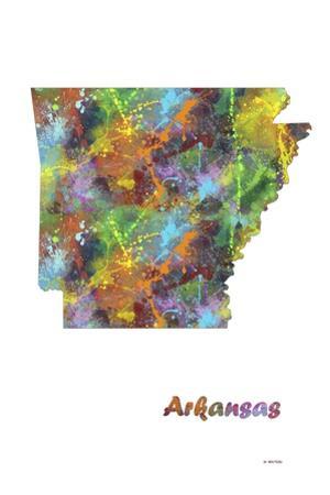 Arkansas State Map 1 by Marlene Watson