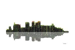 Birmingham Alabama Skyline BW 1 by Marlene Watson
