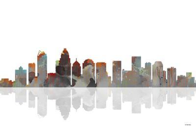 Charlotte NC Skyline BW 1 by Marlene Watson
