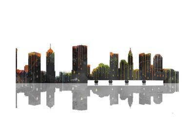 Columbus Ohio Skyline BW 1 by Marlene Watson