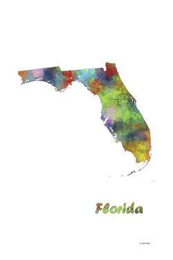 Florida State Map 1 by Marlene Watson
