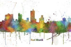 Fort Worth Texas Skyline MCLR 1 by Marlene Watson