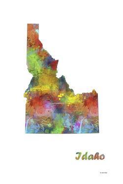 Idaho State Map 1 by Marlene Watson