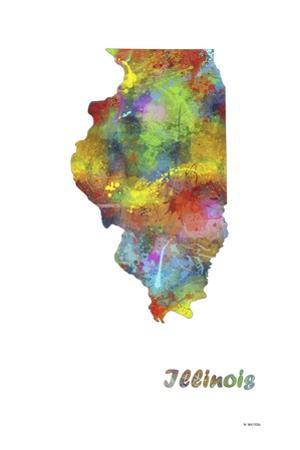Illinois State Map 1 by Marlene Watson