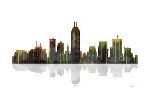 Indianapolis Indiana Skyline BW 1 by Marlene Watson
