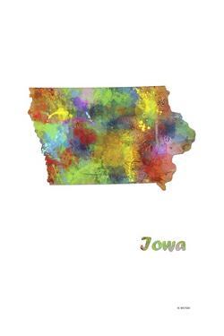 Iowa State Map 1 by Marlene Watson