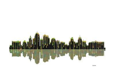 Kansas City Missouri Skyline BW 1 by Marlene Watson
