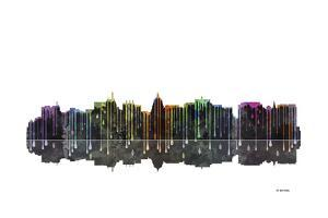 Madison Wisconsin Skyline BW 1 by Marlene Watson