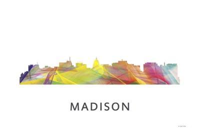 Madison Wisconsin Skyline by Marlene Watson