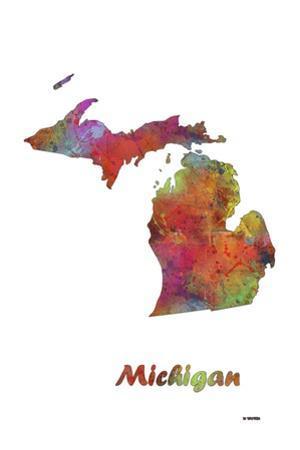 Michigan State Map 1 by Marlene Watson