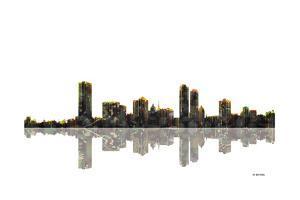 Milwaukee Wisconsin Skyline BW 1 by Marlene Watson