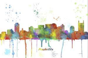Nashville Tennessee Skyline MCLR 1 by Marlene Watson
