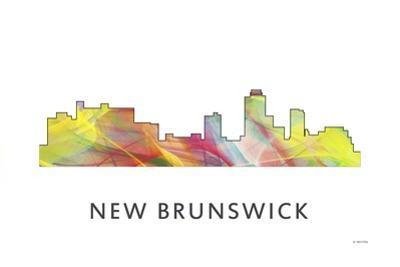 New Brunswick New Jersey Skyline Wb1 by Marlene Watson