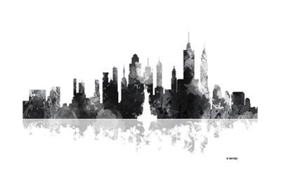 New York New York Skyline BG 1 by Marlene Watson