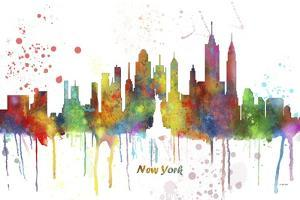 New York New York Skyline MCLR 1 by Marlene Watson