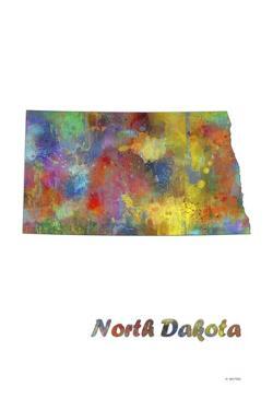 North Dakota State Map 1 by Marlene Watson
