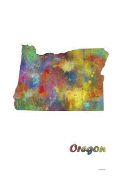 Oregon State Map 1 by Marlene Watson