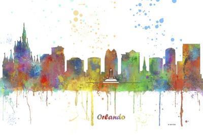 Orlando Florida Skyline MCLR 1 by Marlene Watson