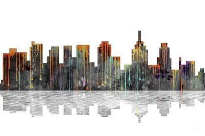Philadelphia Pennsylvania Skyline BW 1 by Marlene Watson