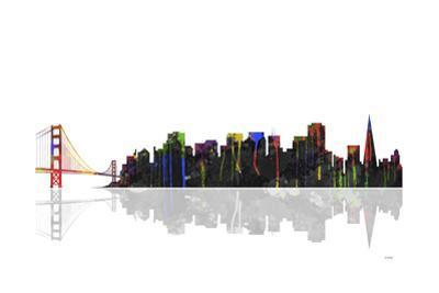 San Francisco California Skyline BW 1 by Marlene Watson