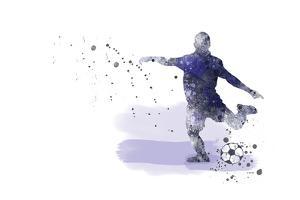 Soccer Player 02 by Marlene Watson