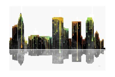Tulsa Oklahoma Skyline BW 1 by Marlene Watson