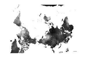 Upside Down Map of the World BG 1 by Marlene Watson