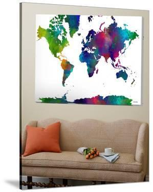 World Map Clr 1 by Marlene Watson