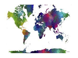 World Map Clr 1 by Marlene Watson