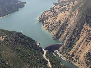 Monticello Dam at the Mouth of Lake Berryessa, California, USA by Marli Miller
