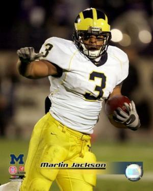 Marlin Jackson University of Michican Wolverines 2005 Action