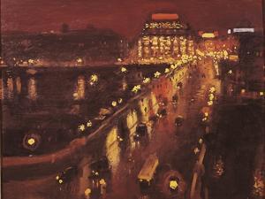 Pont Neuf at Night, Paris, 1935-39 by Marquet Parigi
