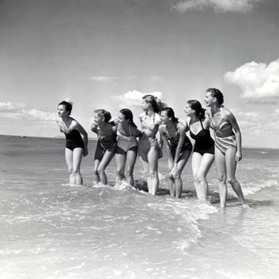 "Marquis De Cuevas"" Company on the Beach at Deauville: 7 Girls, 7 Nationalities"