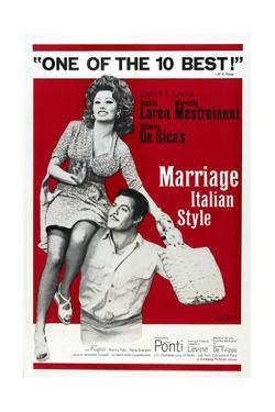 MARRIAGE ITALIAN STYLE, US poster, Sophia Loren, Marcello Mastroianni, 1964