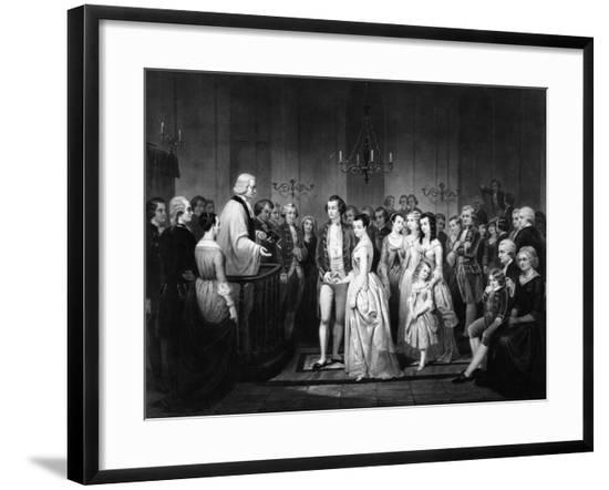 Marriage of George Washington and Martha Curtis--Framed Giclee Print