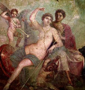 Mars and Venus from the House of Mars and Venus (Casa De Marte E Venere) Pompeii (Wall Painting)