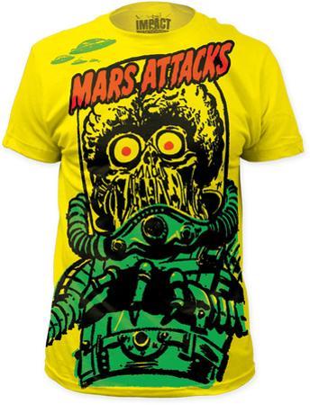 Mars Attacks - Big Yellow Martian (Slim Fit)