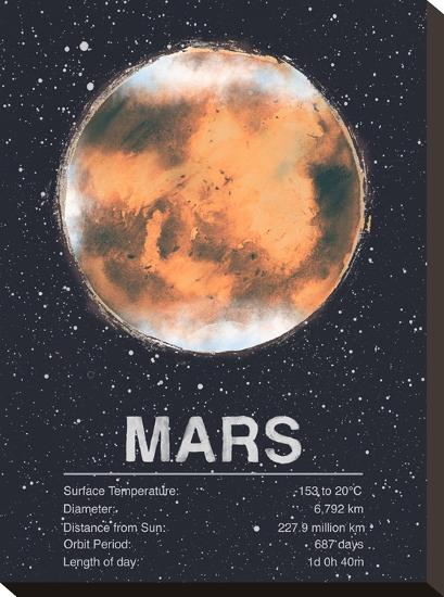 Mars-Tracie Andrews-Stretched Canvas
