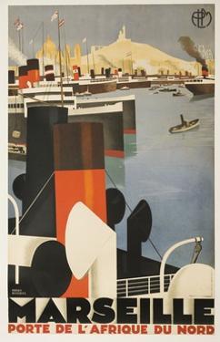 Marseille Travel Poster