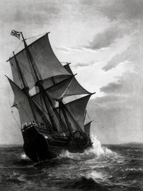 The Mayflower, Engraved and Pub. by John A. Lowell, Boston, 1905 by Marshall Johnson
