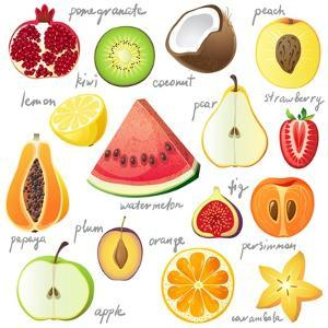 15 Bright Fruit Pieces by mart_m