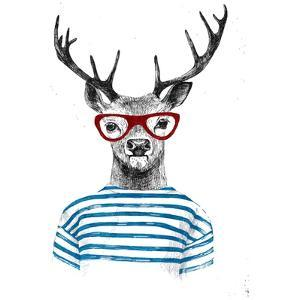 Deer Dressed up in Hipster Style by mart_m