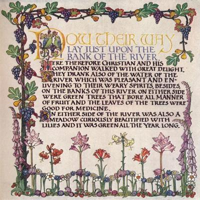 'Illuminated Text From The Pilgrim's progress', c1920