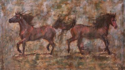 2 Horses by Marta Gottfried