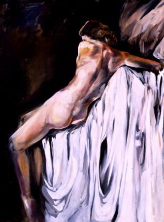 Nude Draped in White by Marta Gottfried