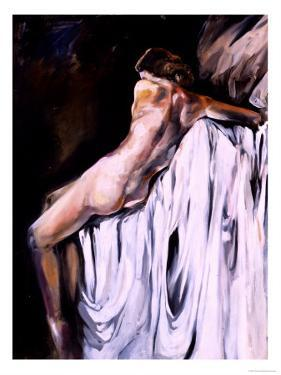 Nude Draped in White by Marta Gottfried